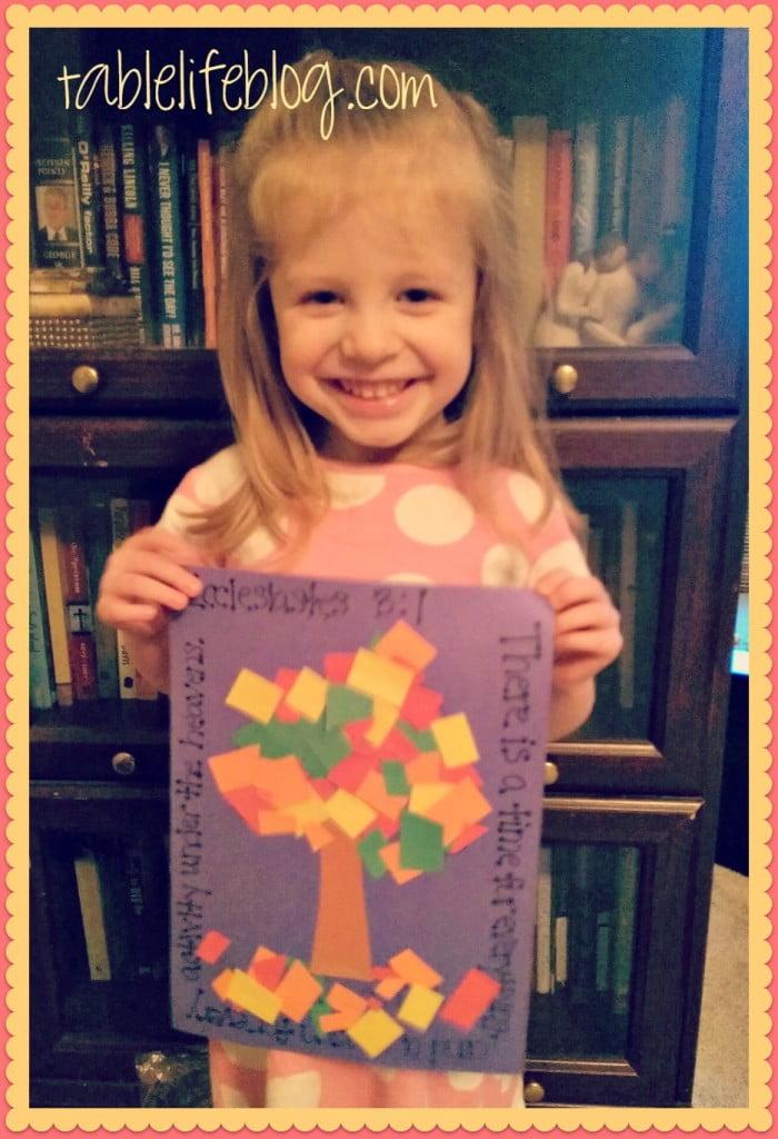 Ecclesiastes 3:1 Preschool Craft