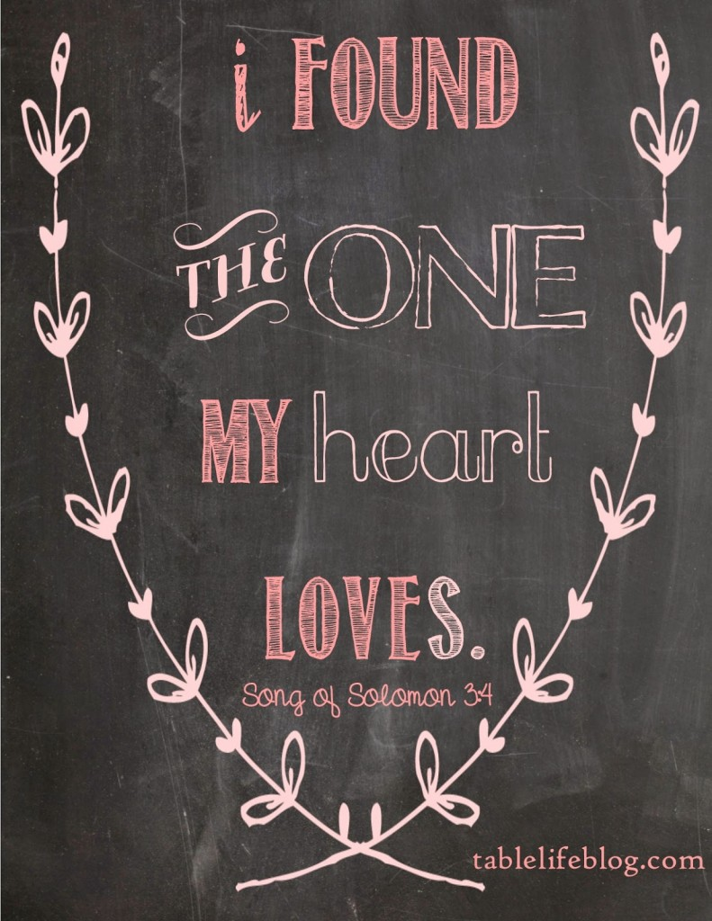 Free Valentines Scripture Printable - Song of Solomon 3:4