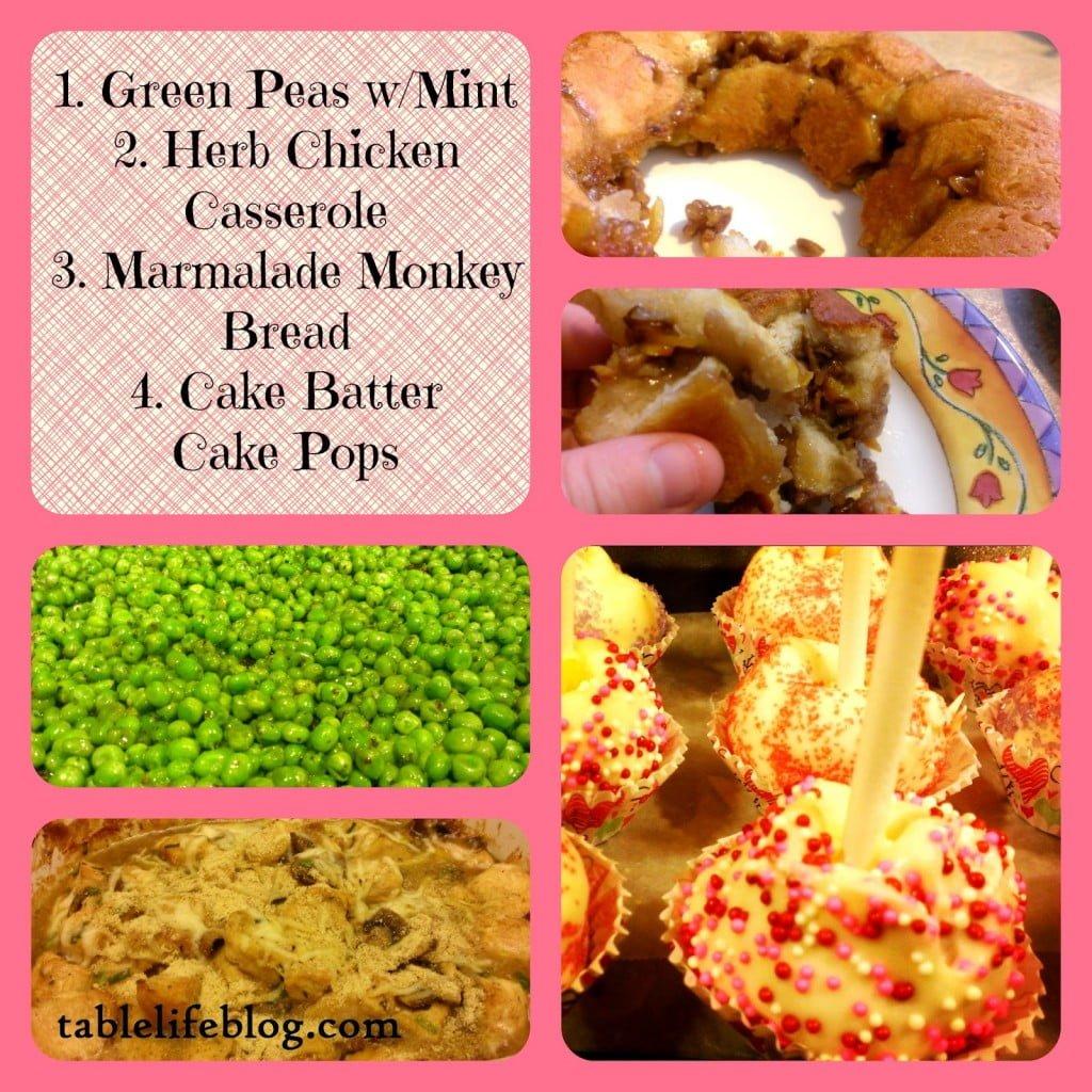 rundown week in review peas mint chicken casserole monkey bread cake batter pops
