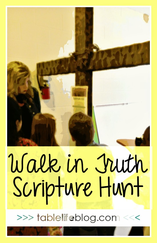 Walk in Truth Scripture Scavenger Hunt - Free download for your family or kidmin