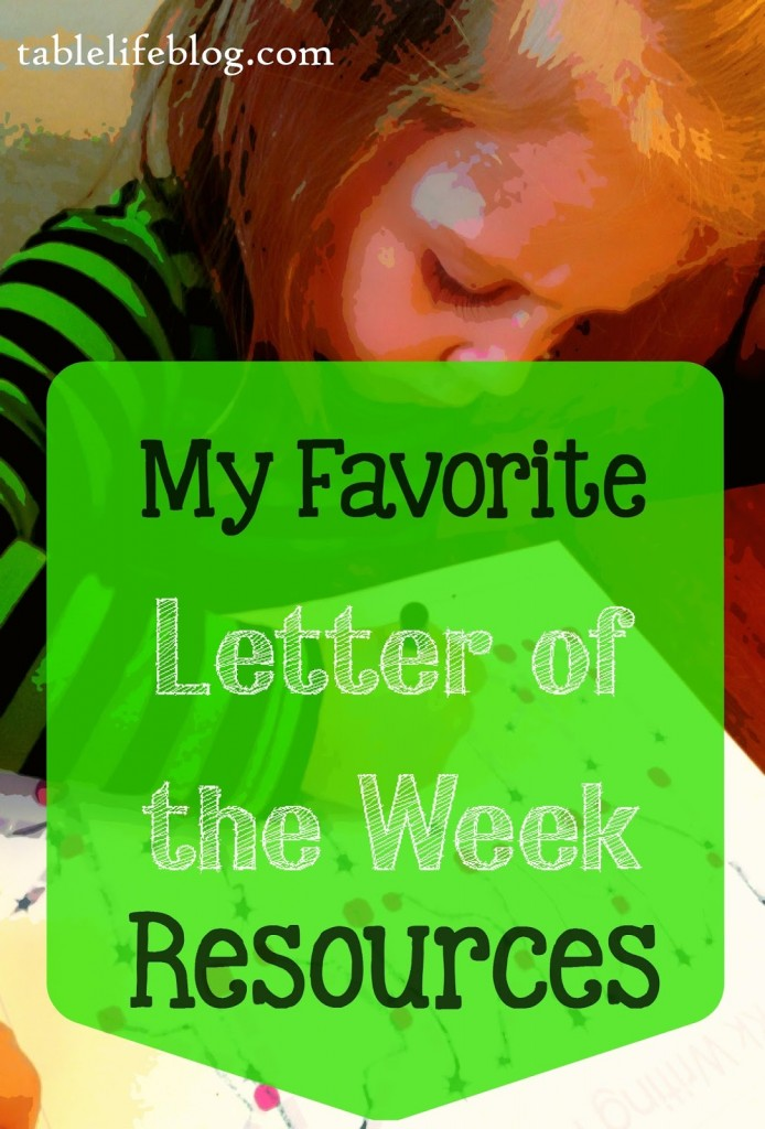 Favorite Letter of the Week Resources
