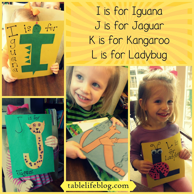 Letter of the week I, J, K, & L