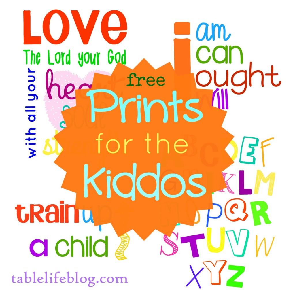 image regarding Free Printable Decor named Free of charge Printable Homeschool Decor TableLifeBlog