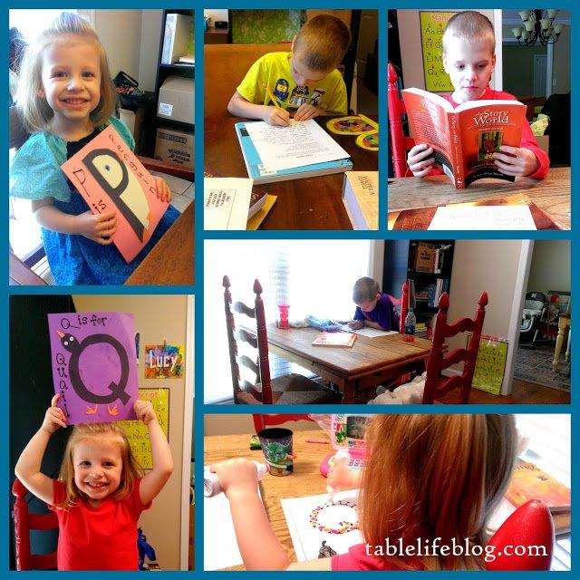 Rundown Week in Review Homeschool collage Preschool Letter of the Week Early Learning