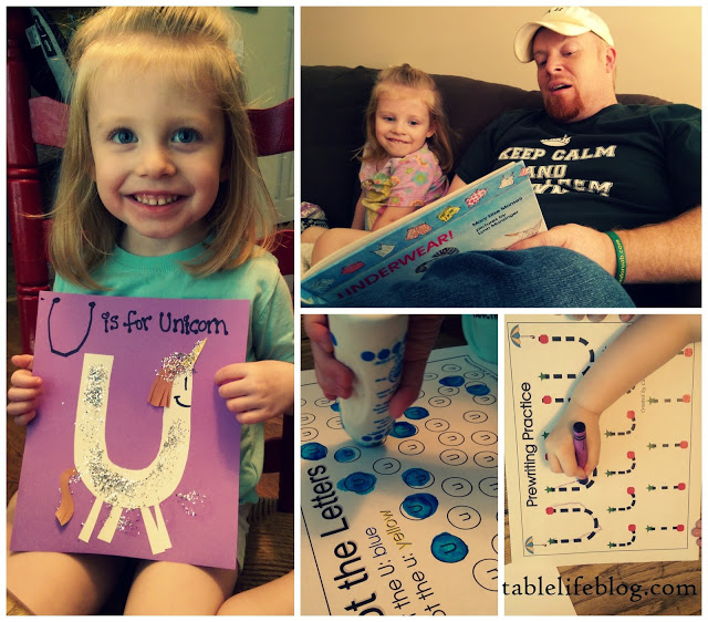 The Rundown: Week in Review (Letter of the Week ~ U is for Unicorn~ preschool~ homeschool~ early learning)