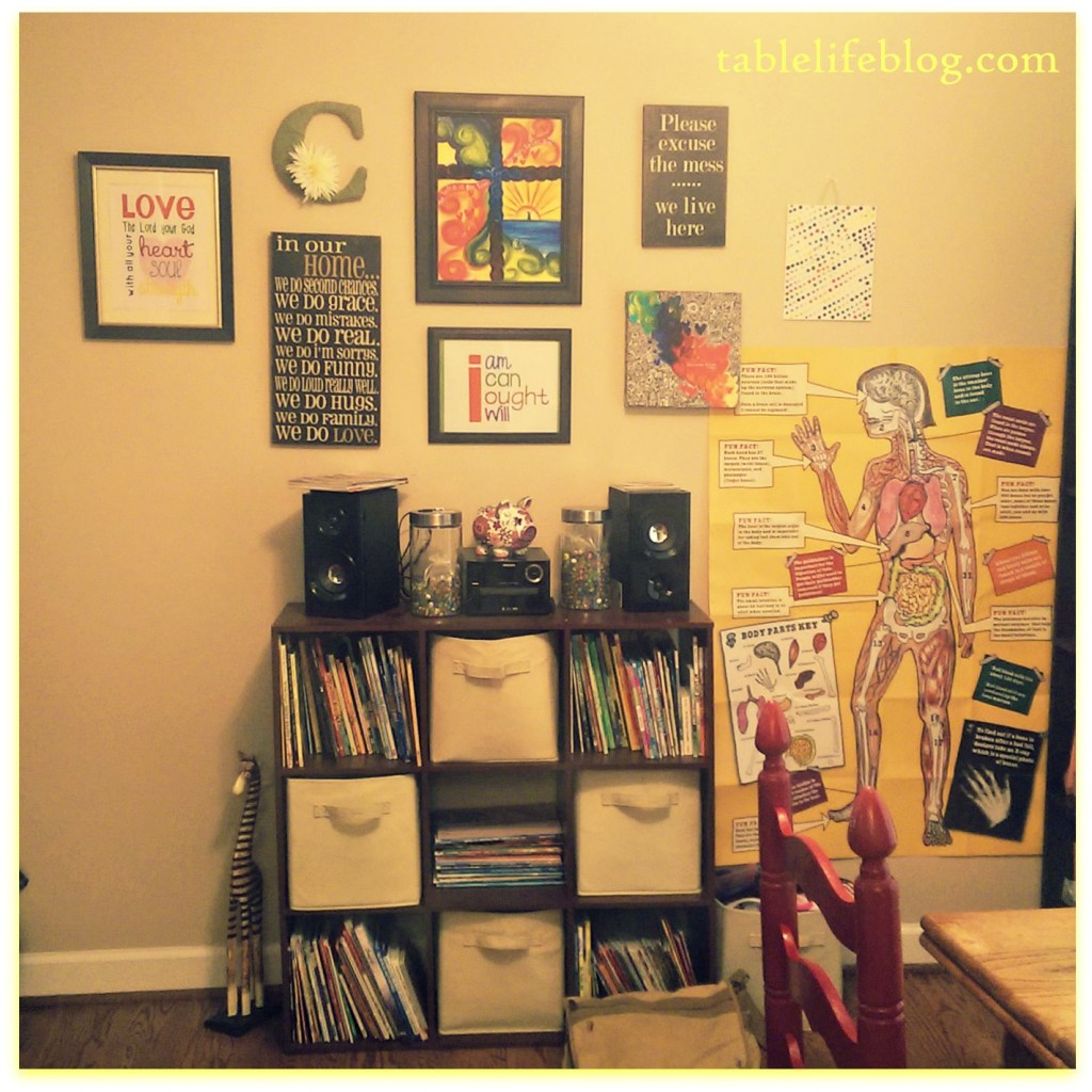 Back to Homeschool: Our Homeschool Space