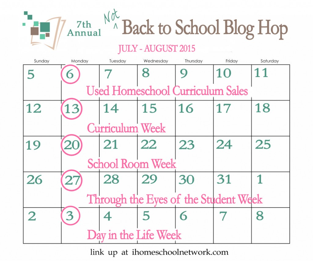 iHomeschool Network 7th Annual Not Back to School Blog Hop