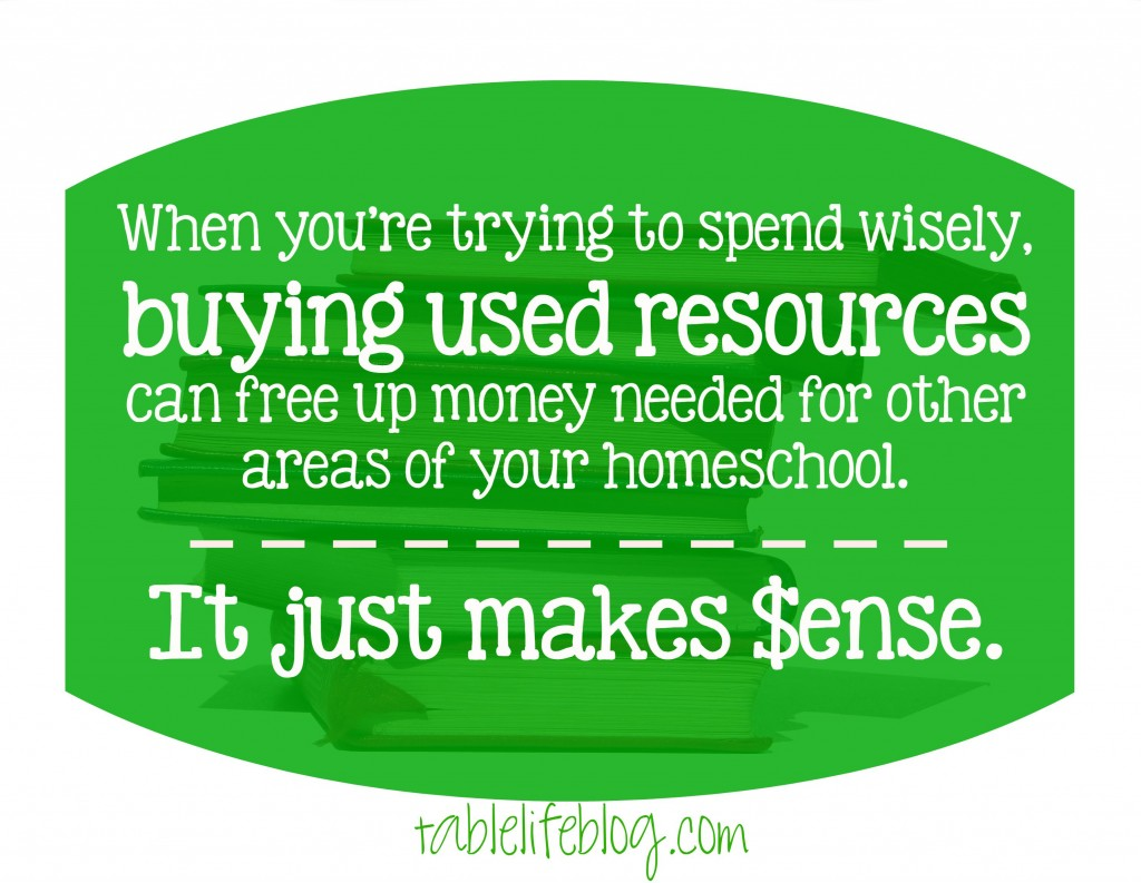 Make Over Your Homeschool Budget - Buying Used Makes Sense