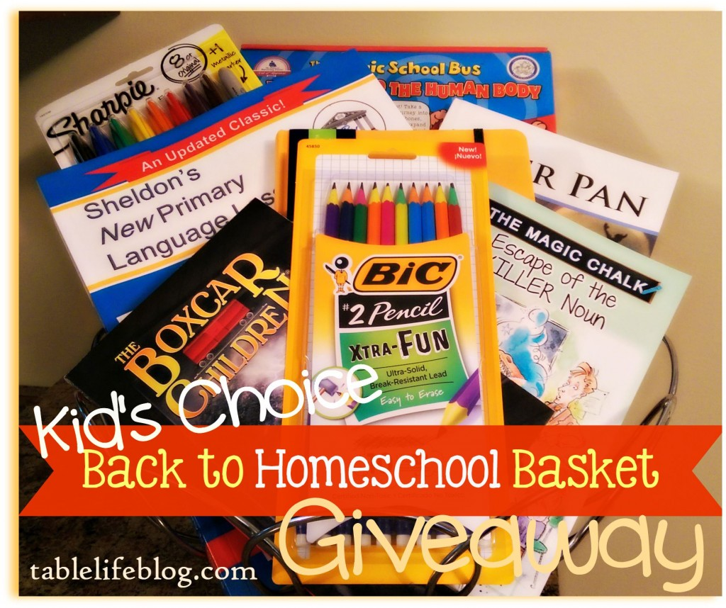 Kid's Choice Back to Homeschool Giveaway