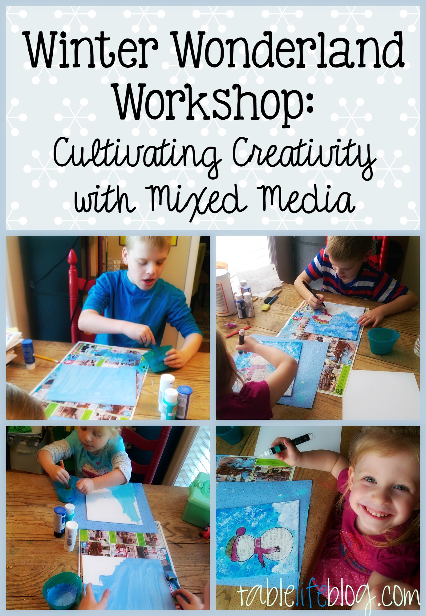 Winter Wonderland Workshop - Cultivating Creativity with Mixed Media