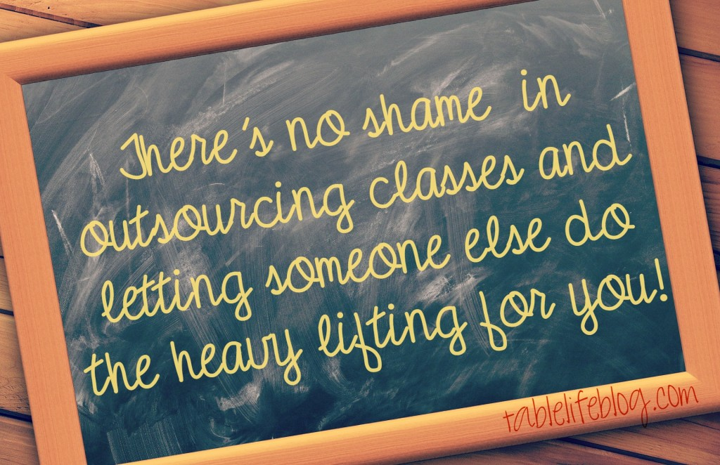 What to do when the curriculum isn't working - there's no shame in outsourcing classes!