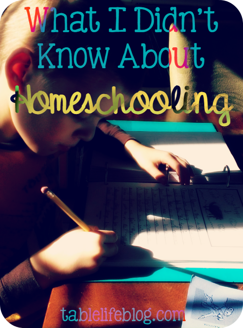 What I Didn't Know About Homeschooling