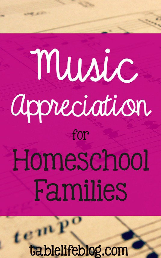 Music Appreciation for Homeschool Families