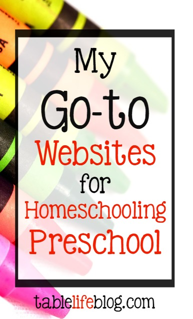 My Go-to Websites for Homeschooling Preschool