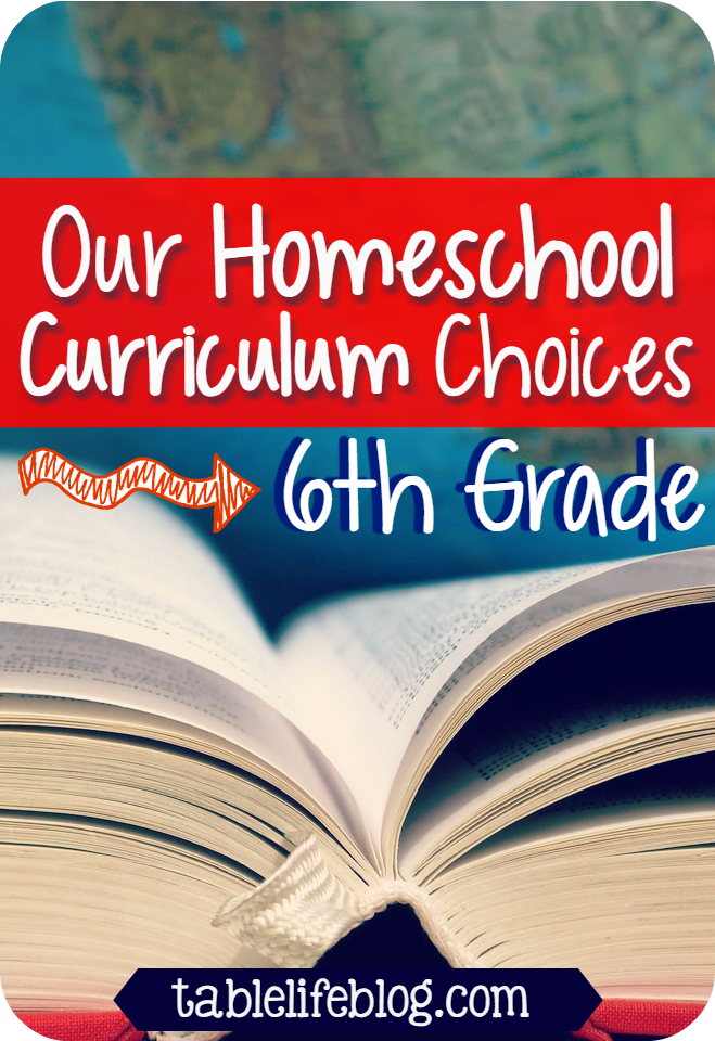 6th Grade Curriculum Choices for Homeschool