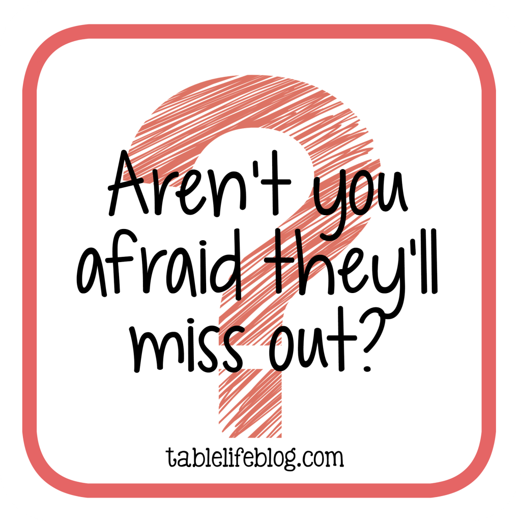 Homeschool Questions I'm Often Asked - Aren't you afraid they'll miss out?