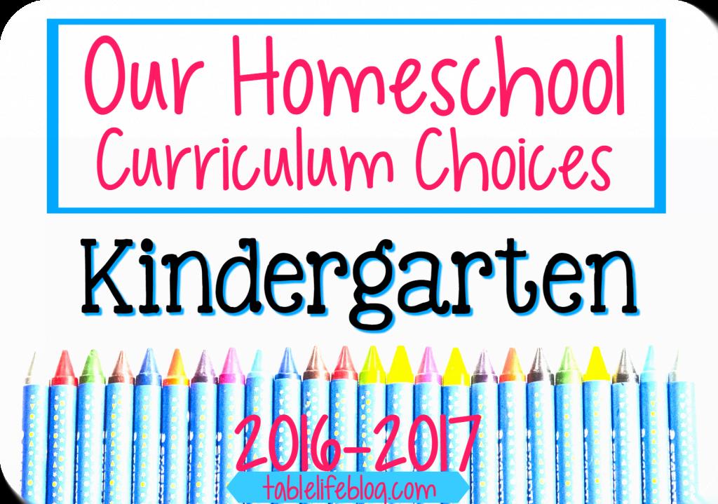 Our Homeschool Kindergarten Curriculum Choices