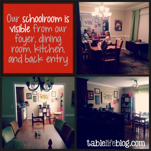 Homeschooling with an Open Floor Plan and Keeping the Clutter Under Control
