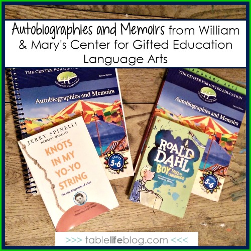 Critical Thinking with Gifted Language Arts - Autobiographies and Memoirs
