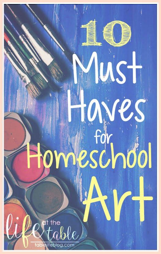 2016 Reader Favorites from TableLifeBlog ~ Must Haves for Homeschool Art