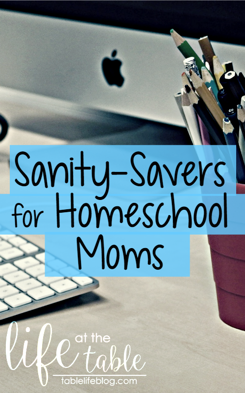 Sanity-Saving Supplies for Homeschool Moms