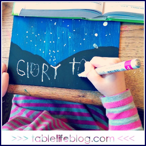 Glory to God Christmas Art for Kids
