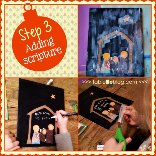 A Child Is Born Christmas Art - Mixed Media Project for Kids