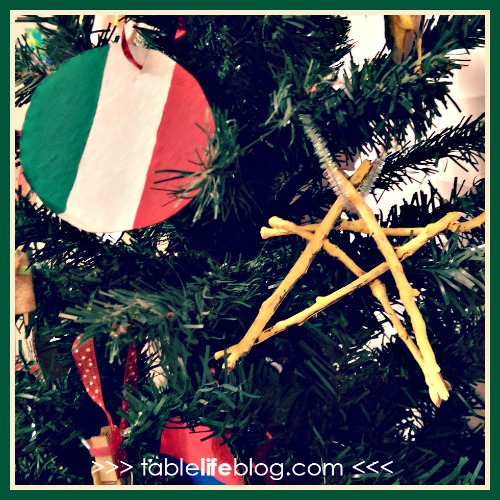 Christmas in Italy Unit Study - Italy flag ornament and Epiphany star ornament
