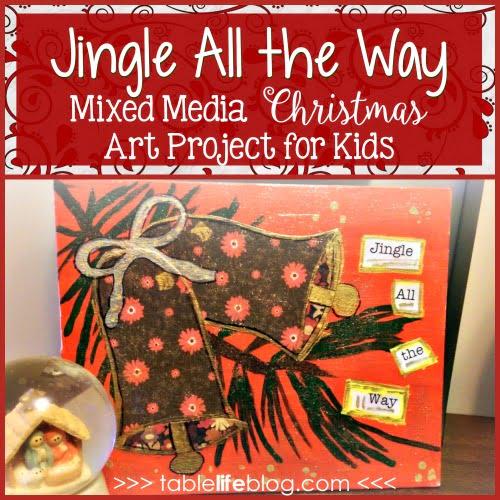 Jingle Bells Christmas Art: A Fun & Easy Mixed Media Project