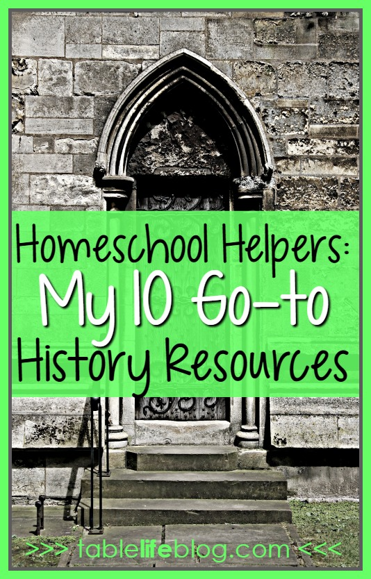 Homeschool Helpers: 10 Go-to Resources for Homeschool History