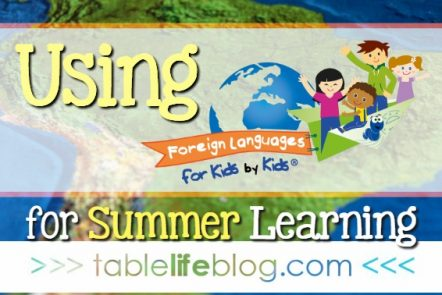 Using Foreign Languages for Kids by Kids for Summer Learning