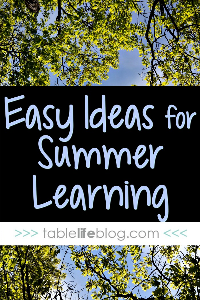 Easy Ideas for Summer Learning