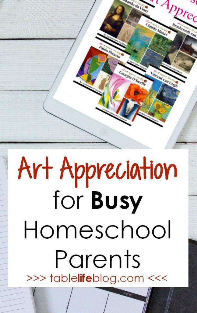 Art Appreciation for Busy Homeschool Parents