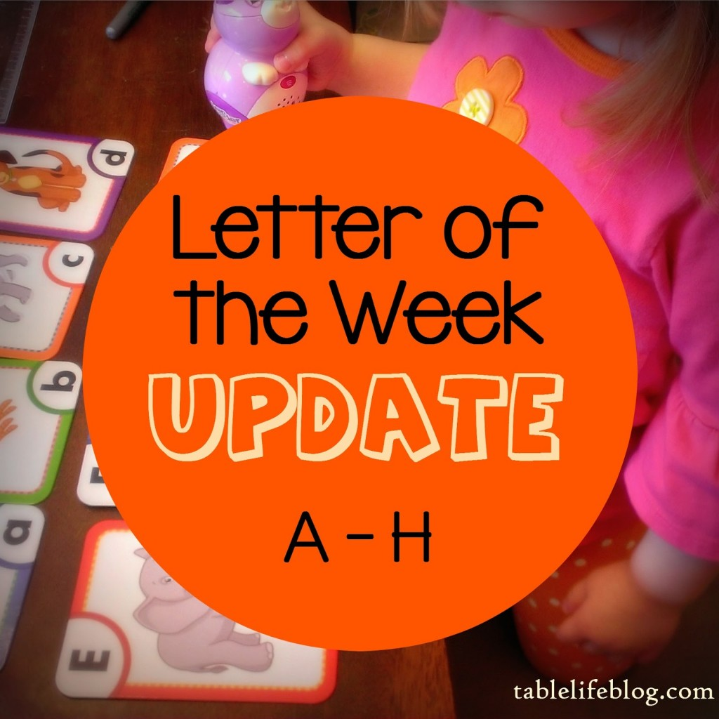 Letter of the Week Update - A - H