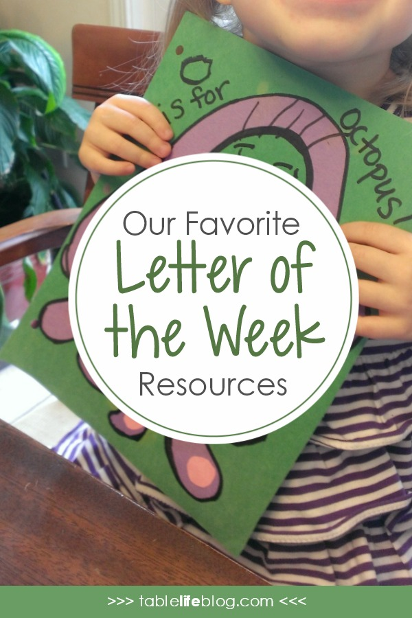 Homeschooling Preschool: Favorite Letter of the Week Resources