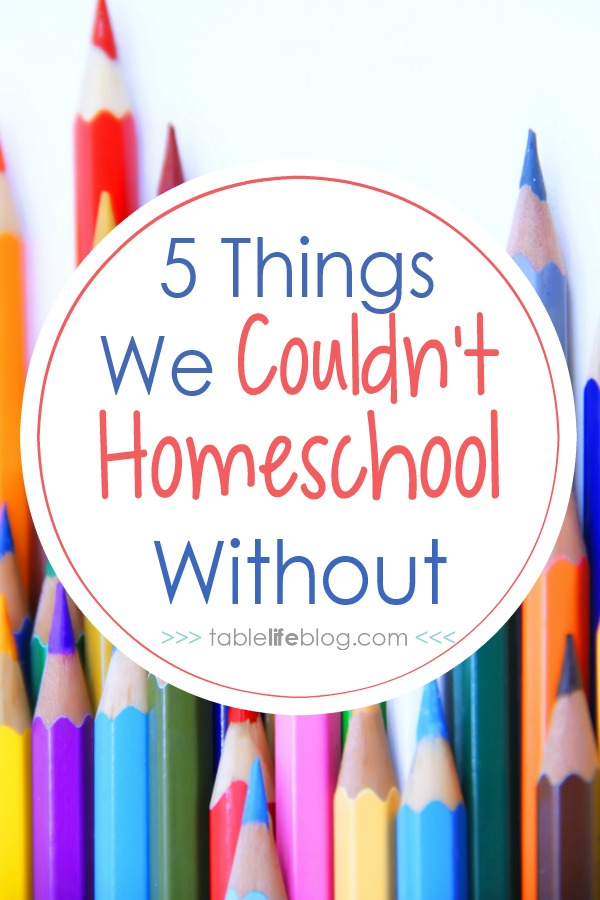 5 Things We Couldn't Homeschool Without