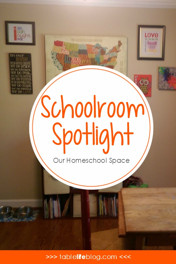 Schoolroom Spotlight: Our Homeschool Space