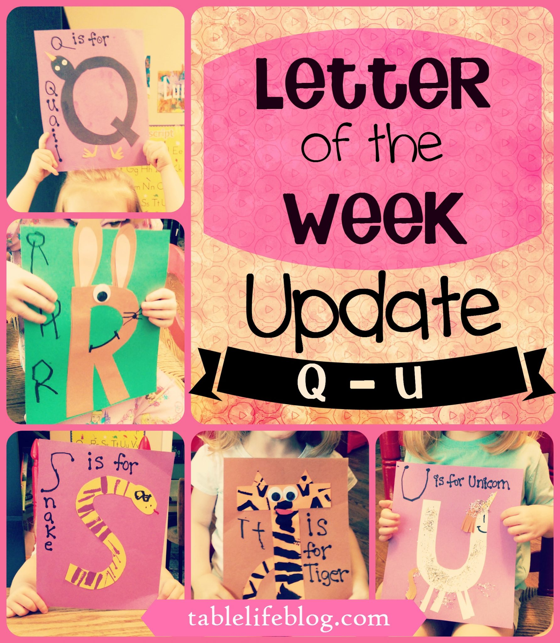 Letter of the Week Update - Q - U