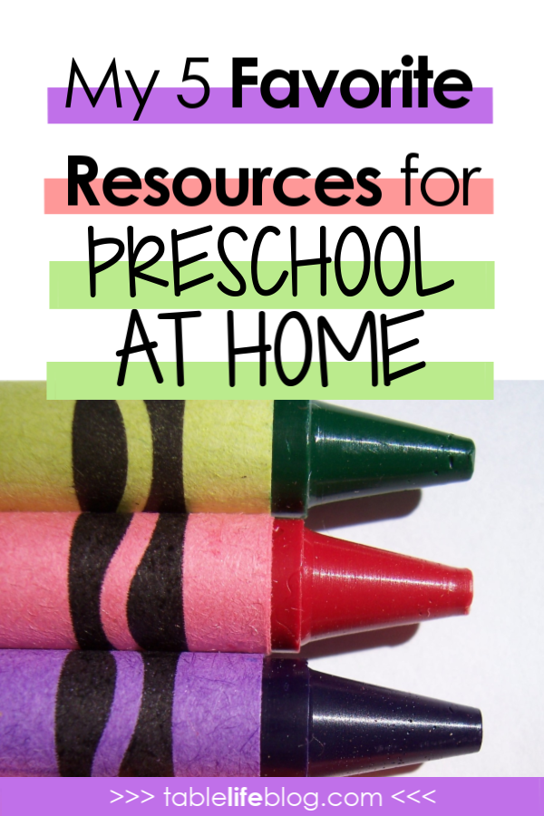 My 5 Favorite Resources for Preschool at Home