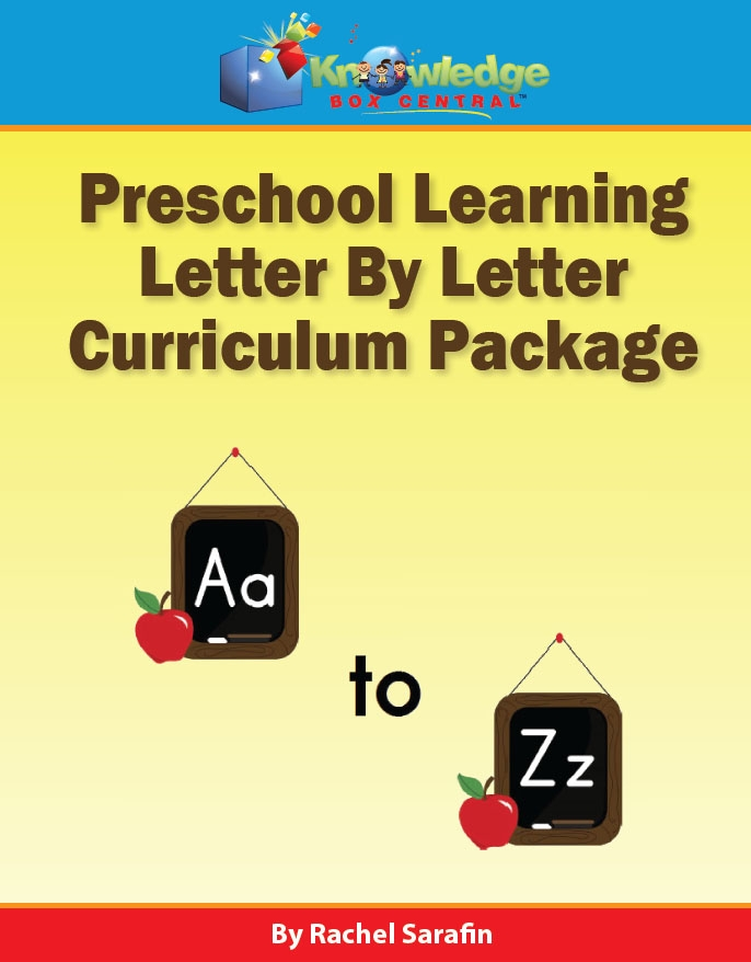 Preschool Learning Letter by Letter Curriculum Package