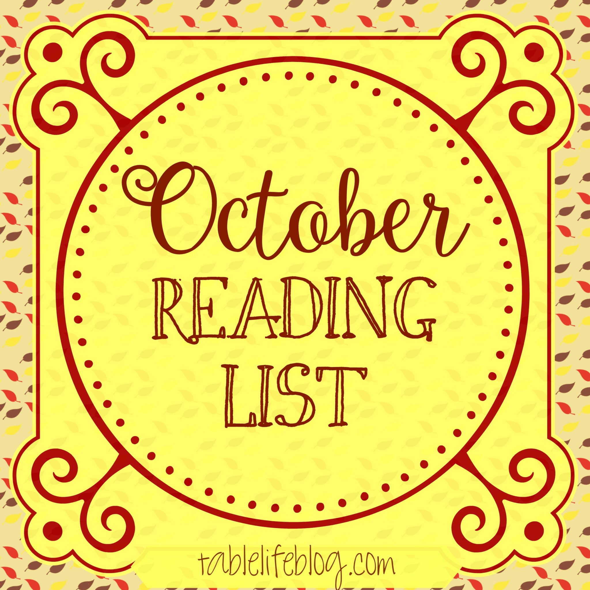 October Reading List
