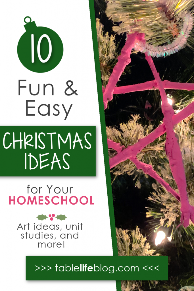 Looking for homeschool resources to include in your Christmas plans this year? We've got you covered with this list of Christmas-themed unit studies, art ideas, history themes, and more!