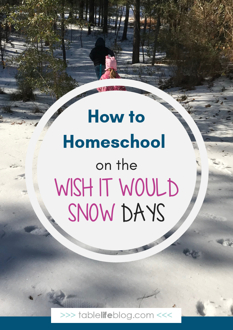 How to Homeschool on the Wish It Would Snow Days