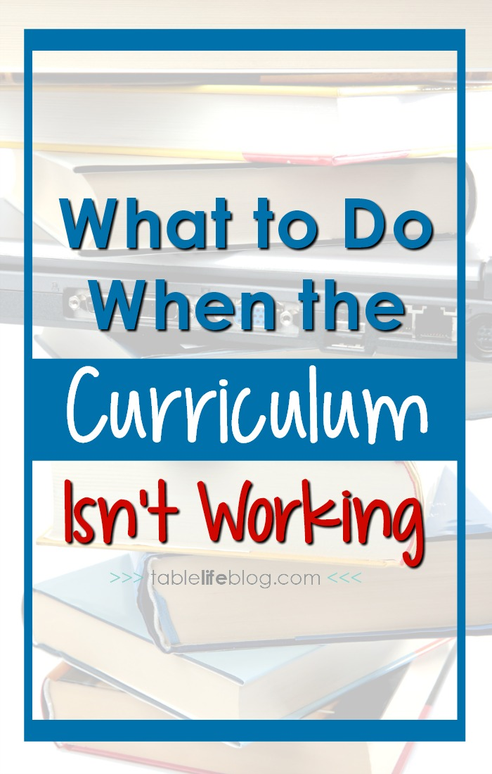 What to do when the Homeschool Curriculum Isn't Working