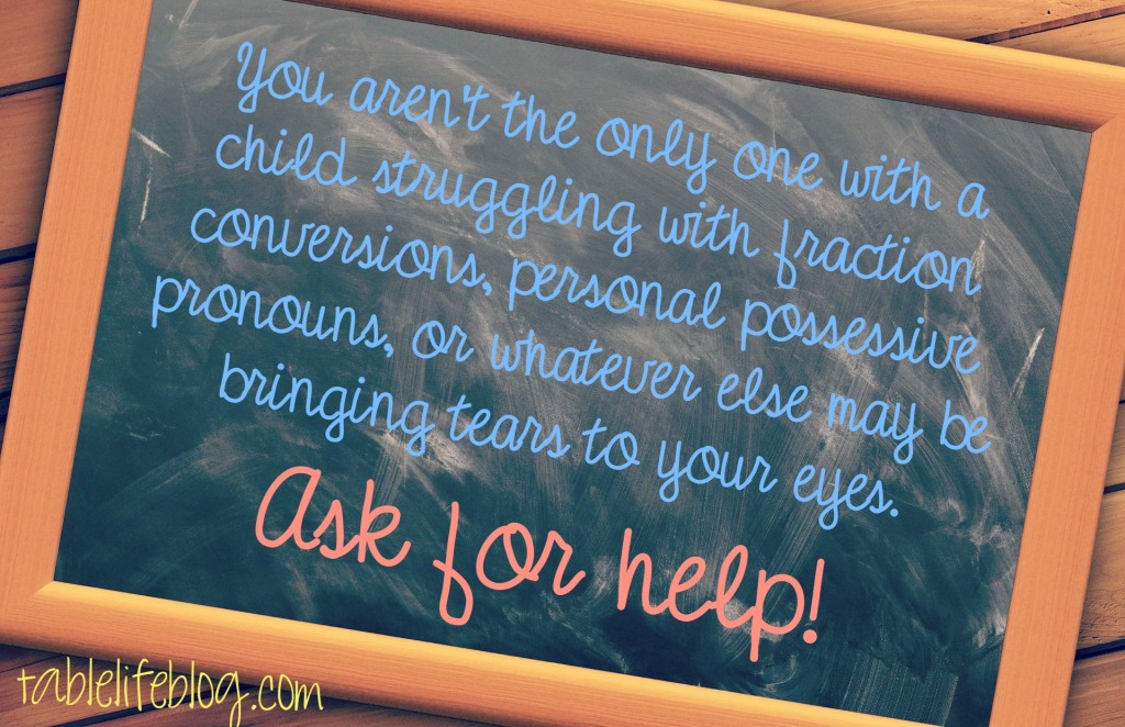What to do when the curriculum isn't working - ask for help!