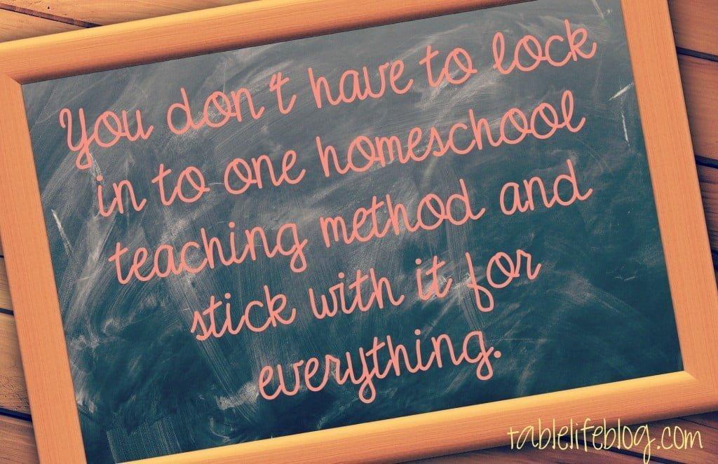 When the curriculum isn't working - change your homeschool method!