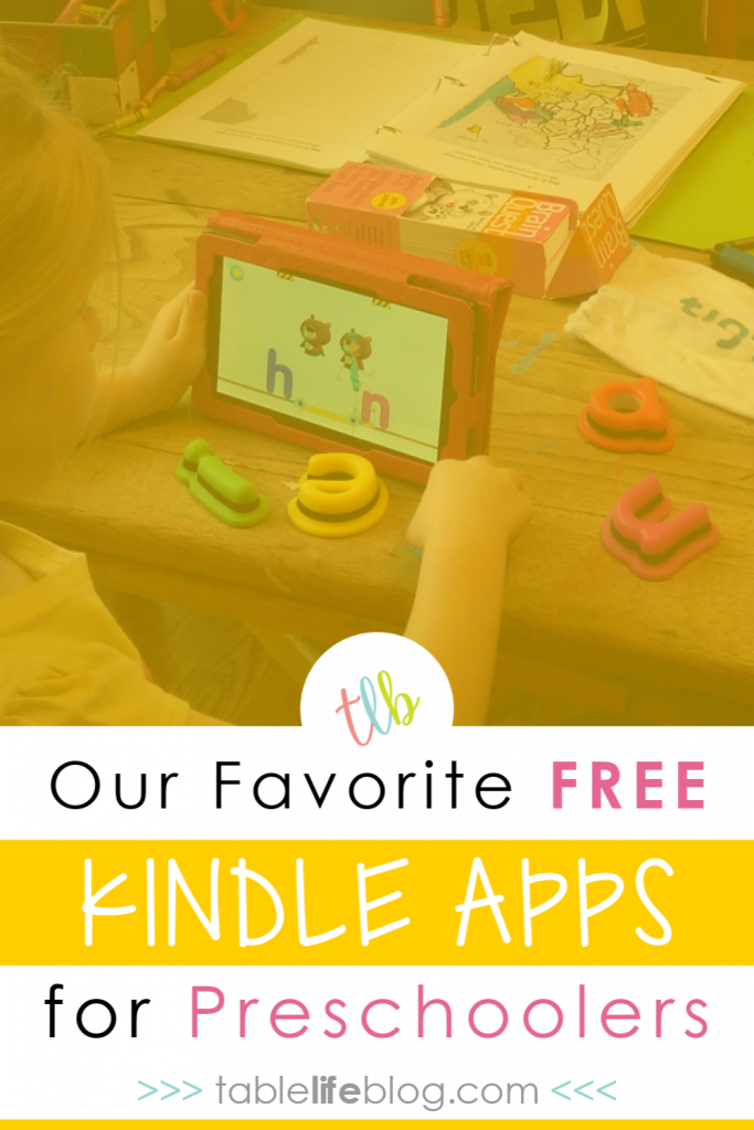 Looking for some fun, but educational apps for younger kids? Today we're sharing our favorite free Kindle apps for preschoolers.