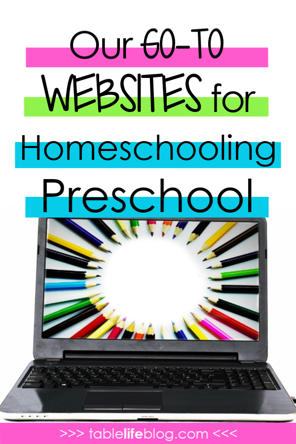 My Go-to Websites for Homeschooling Preschool