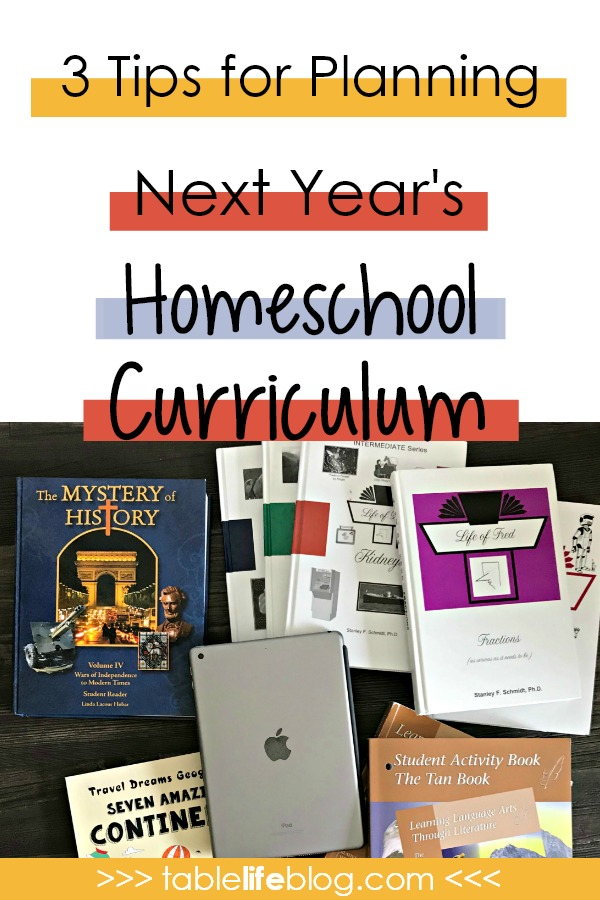 3 Tips for Next Year's Homeschool Curriculum Planning (+ Planning Printable)