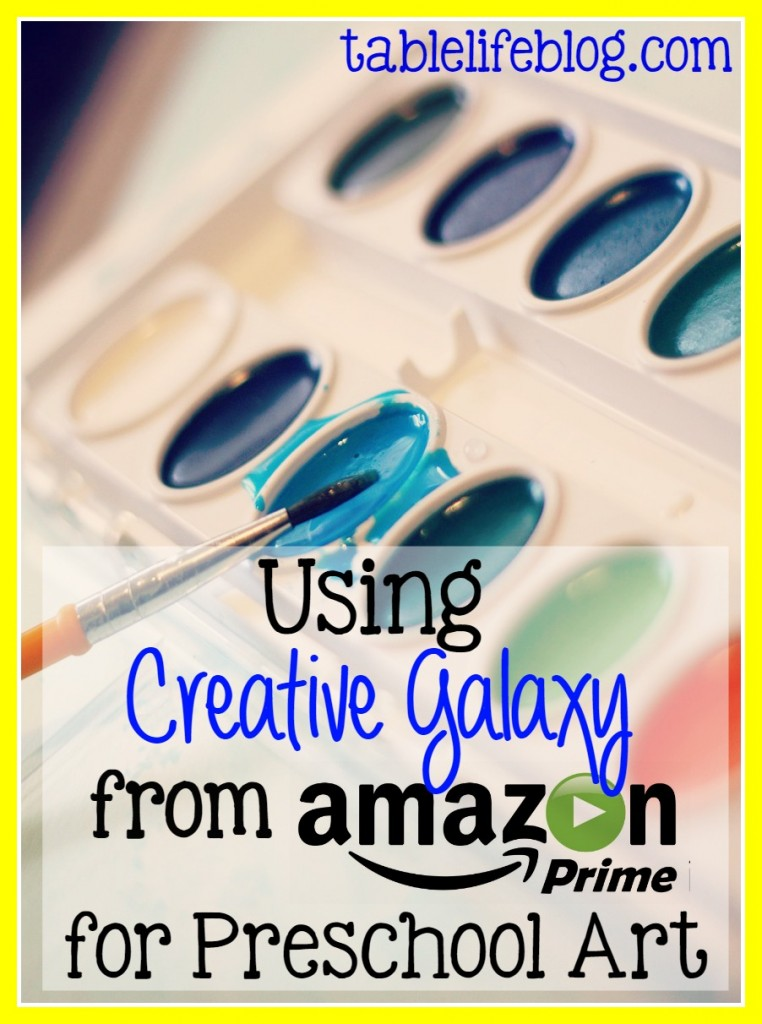 Using Amazon's Creative Galaxy for Preschool Art